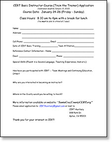 Train the Trainer application